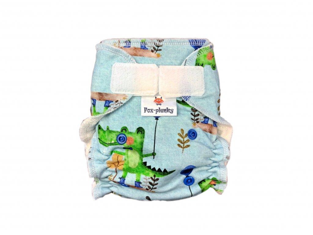 Novorozenecká kalhotovka SZ lišky a rostlinky