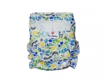 Jednovelikostní kalhotová plenka SZ barevné květy