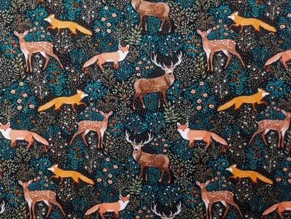 FoxVak PUL taška na pleny - liška v modrém lese