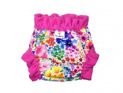 Natahovací svrchní Vel.XL klasický pul - barevné květy