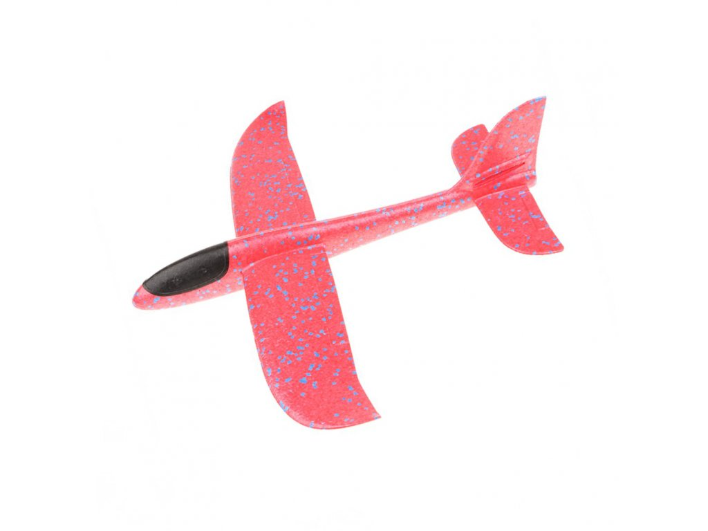 FOXGLIDER dětské házedlo letadlo EPP 48cm červené bez2