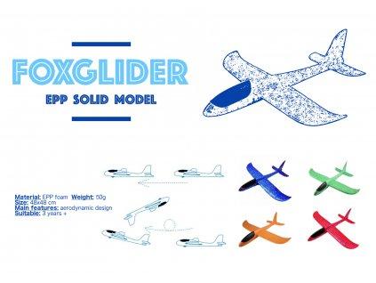 epp foam plane blue