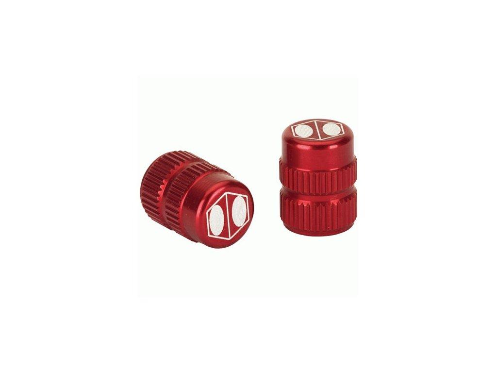 box one cube valve cap red schrader
