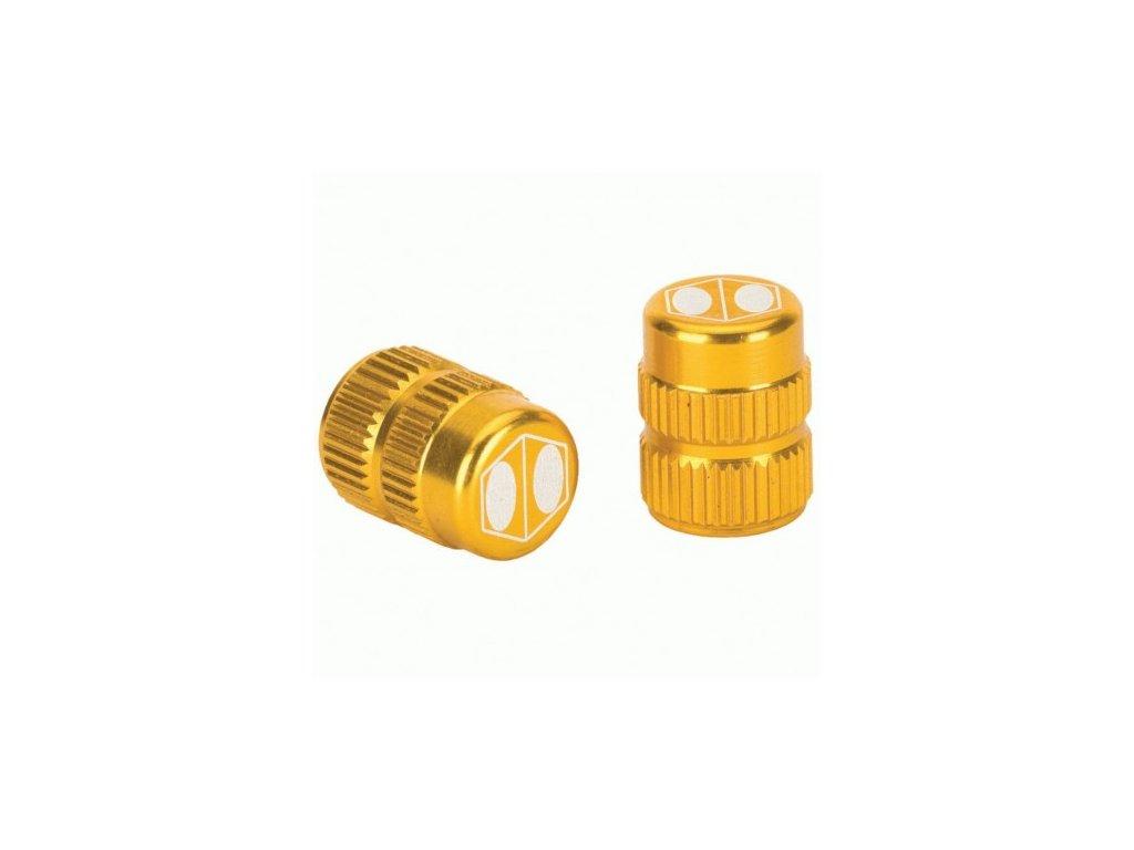 box one cube valve cap gold schrader