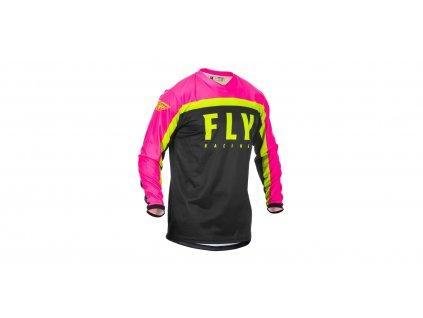 Dres FLY Racing F16 Jersey 2020 Neon Pink/Black/Hi-Vis