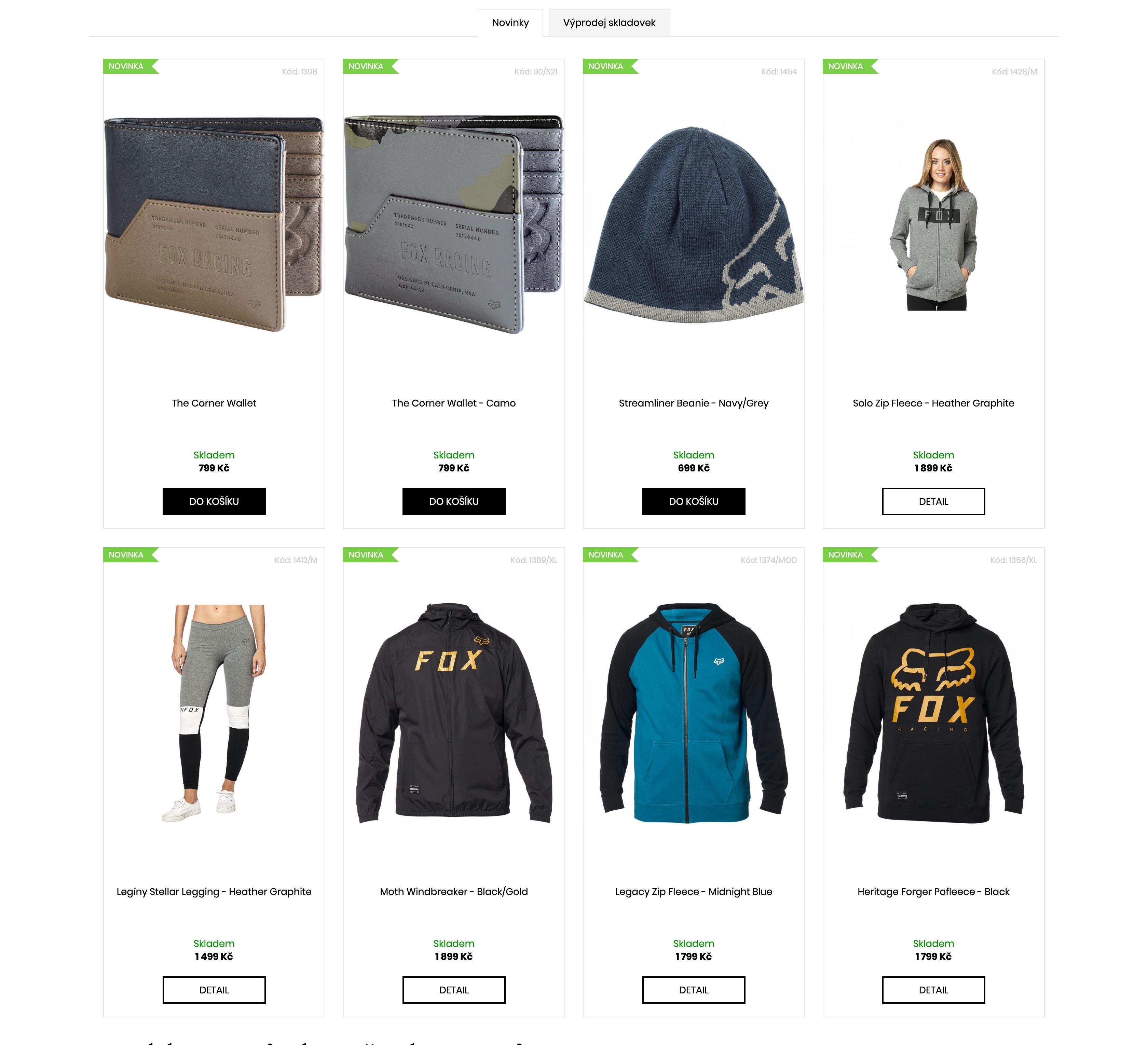Kolekce oblečení FOX - podzim 2019 SKLADEM!