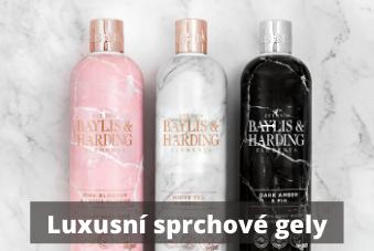 luxusní sprchové gely Baylis & Harding