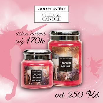 village candle unicorn