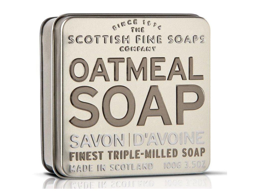 Scottish Fine Soaps Mýdlo v plechu - Oves, 100g