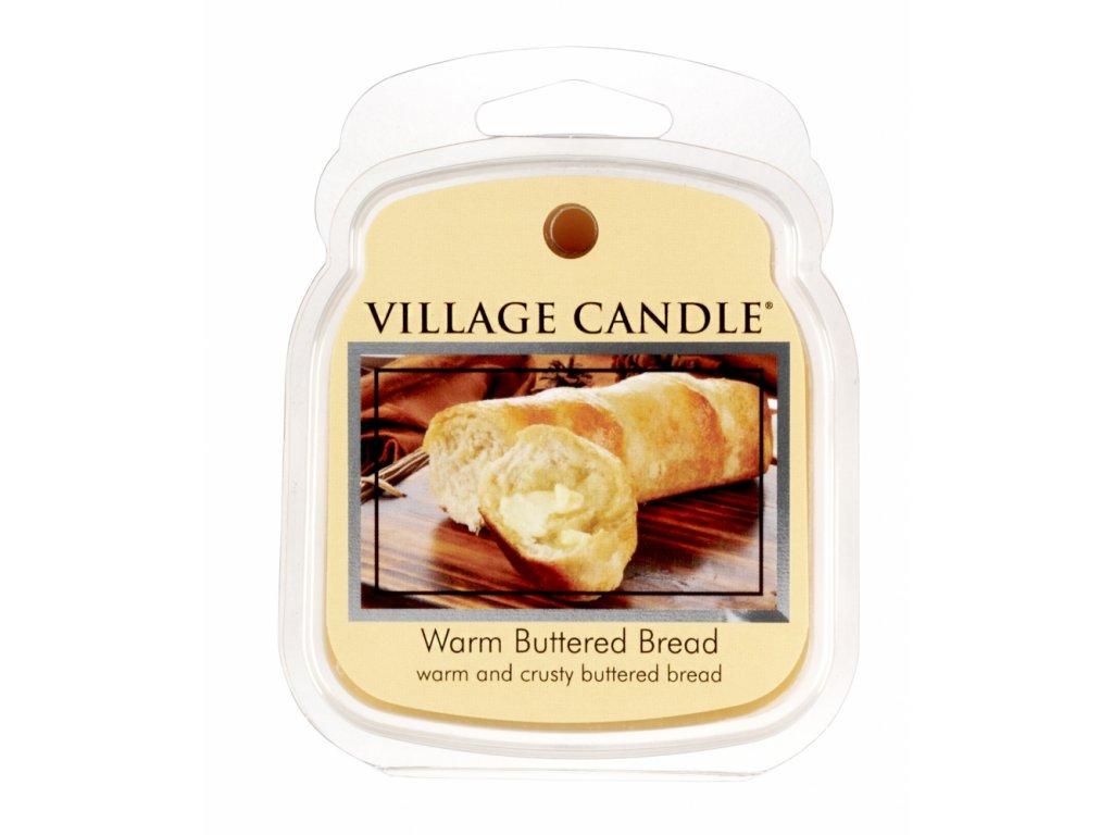 Village Candle Vosk, Teplé máslové houstičky - Warm Buttered Bread 62g