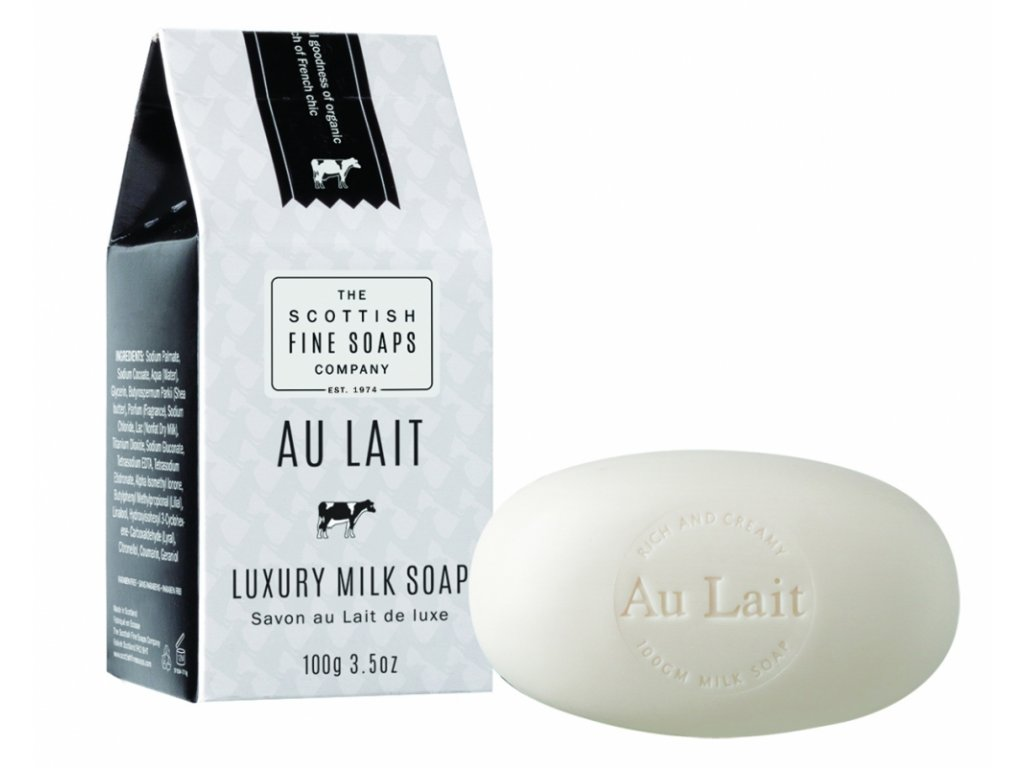 Scottish Fine Soaps Mýdlo - Au Lait - Čerstvé Mléko, 100g