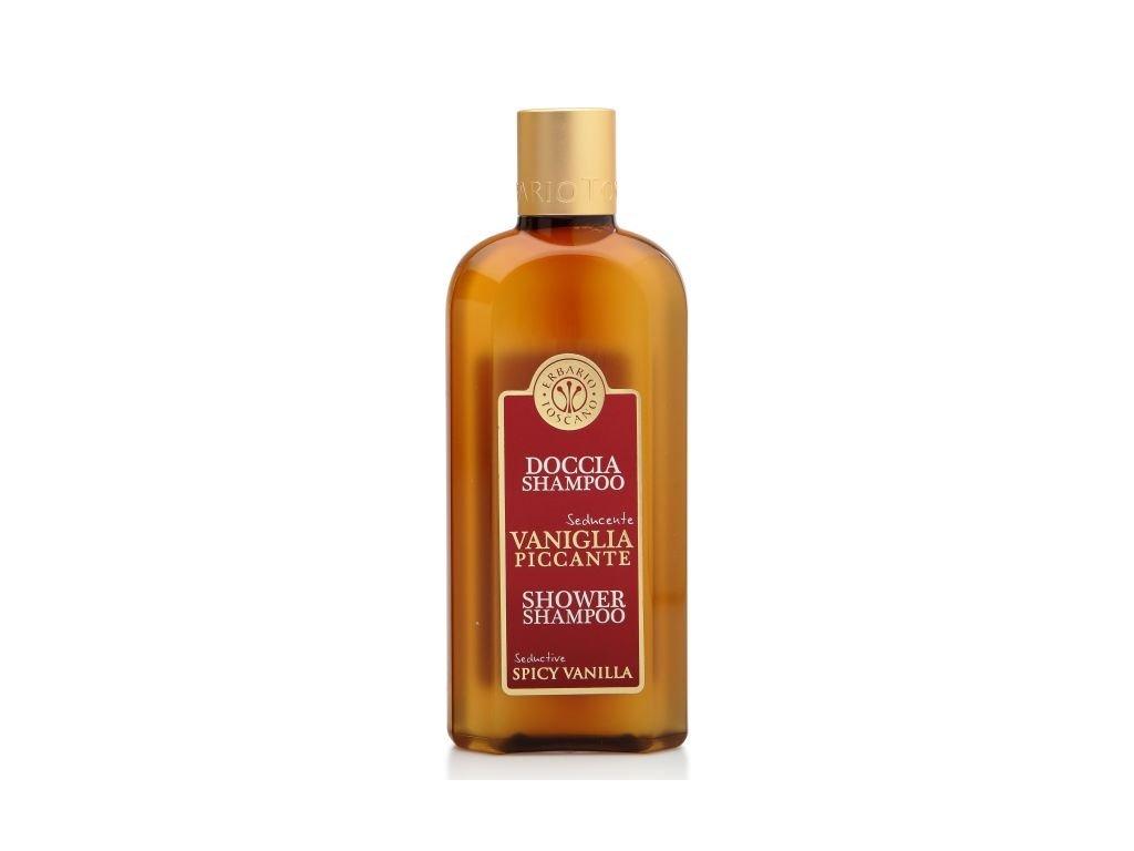 Erbario Toscano Sprchový gel a šampón - Vanilka a koření, 250ml