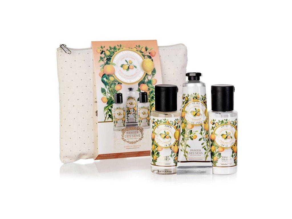 Panier des Sens Cestovní sada - Provence (Sprchový gel + tělové mléko + krém na ruce)