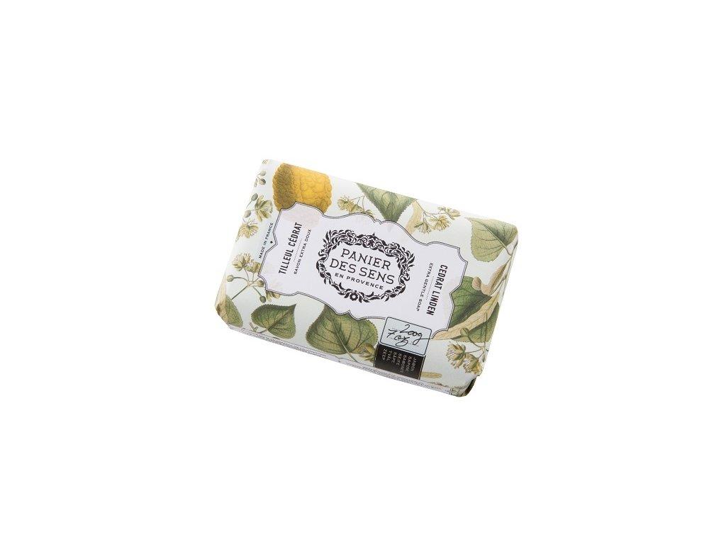 Panier des Sens Mýdlo s bambuckým máslem - Lipový květ a citrusy 200g