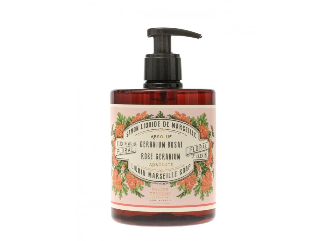 Panier des Sens Tekuté mýdlo - Růže a muškát 500ml