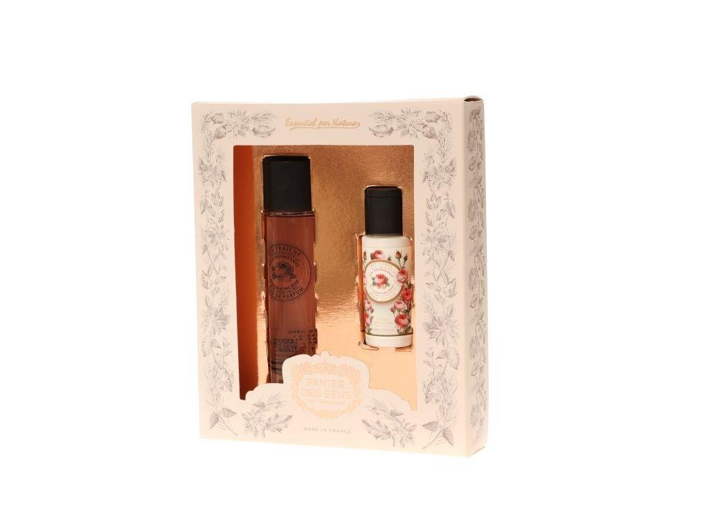 Panier des Sens Dárková sada - Růže (Parfémovaná voda EDP 50ml+Tělové mléko 50ml)