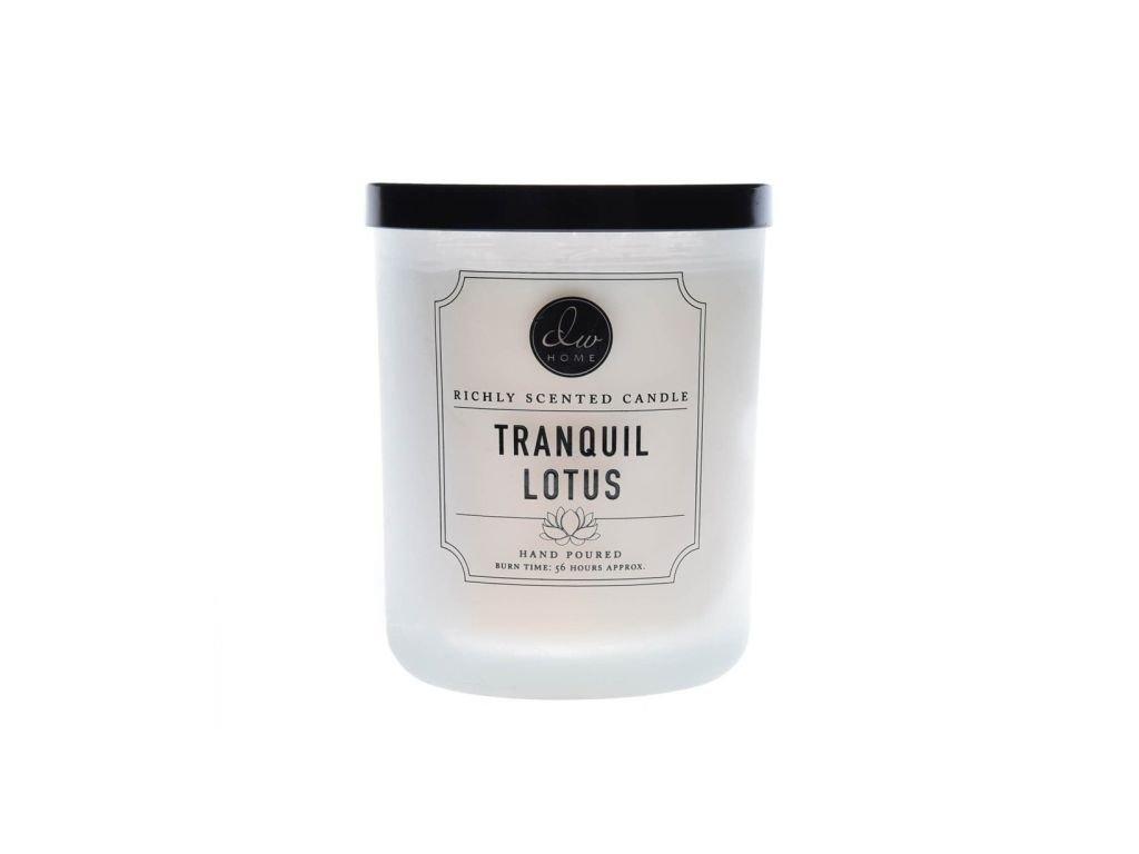 DW Home Vonná svíčka ve skle Lotosový květ - Tranquil Lotus, 15oz