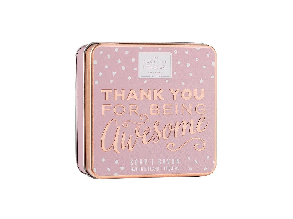 Scottish Fine Soaps Mýdlo v plechu - Thank you For Being Awesome, 100g
