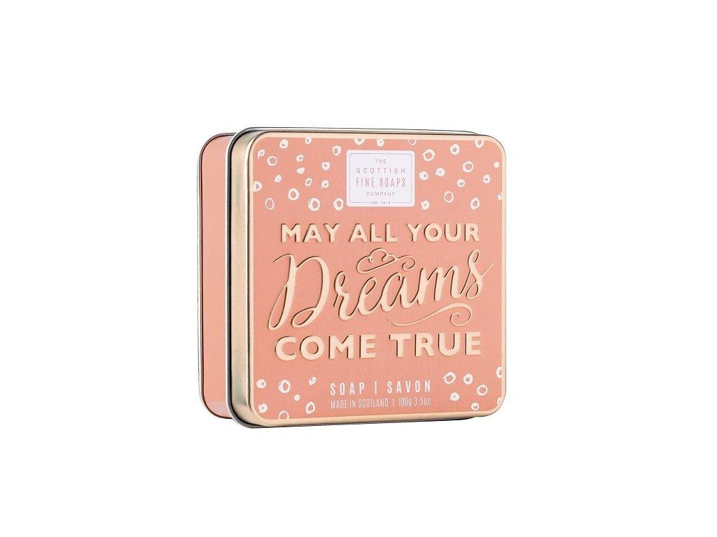 Scottish Fine Soaps Mýdlo v plechu - May All Your Dreams Come True - Mořský Příliv, 100g