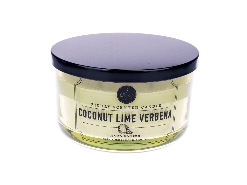 DW Home Vonná svíčka ve skle Kokos a limetka - Coconut Lime Verbena, 12,8oz