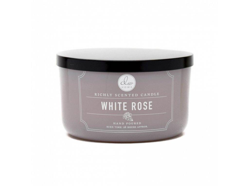 DW Home Vonná svíčka ve skle Bílá růže - White Rose, 13,8oz