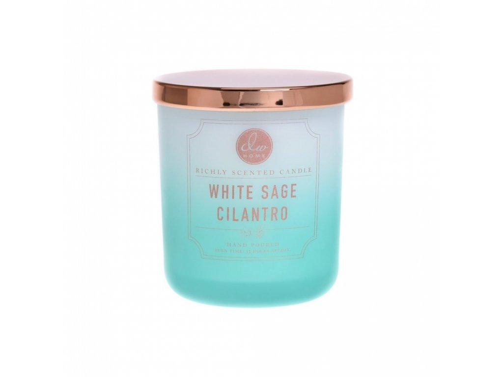 DW Home Vonná svíčka ve skle Šalvěj a Koriandr - White Sage Cilantro, 9oz