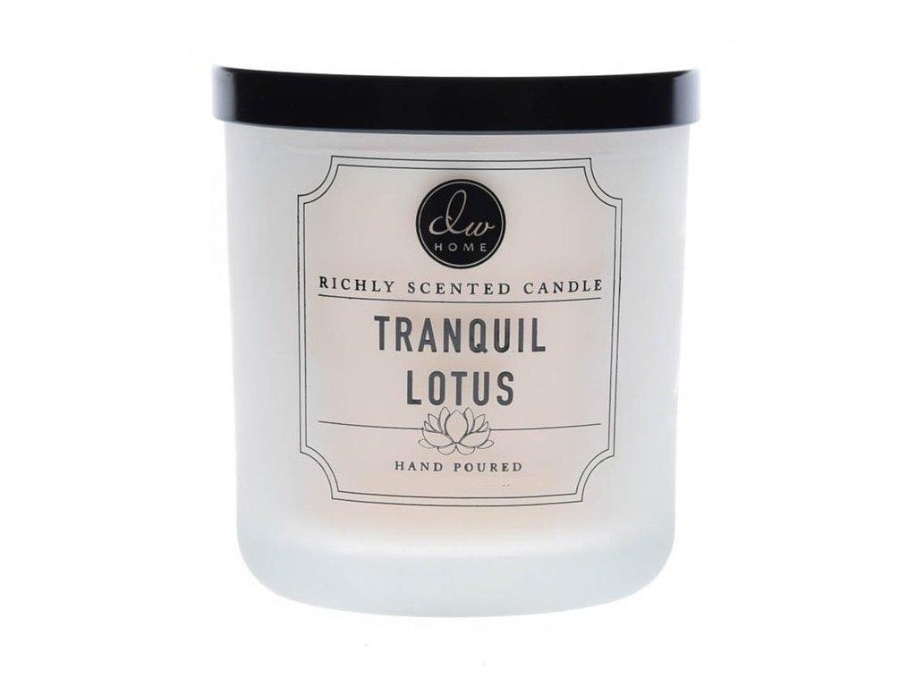 DW Home Vonná svíčka ve skle Lotosový květ - Tranquil Lotus, 4oz