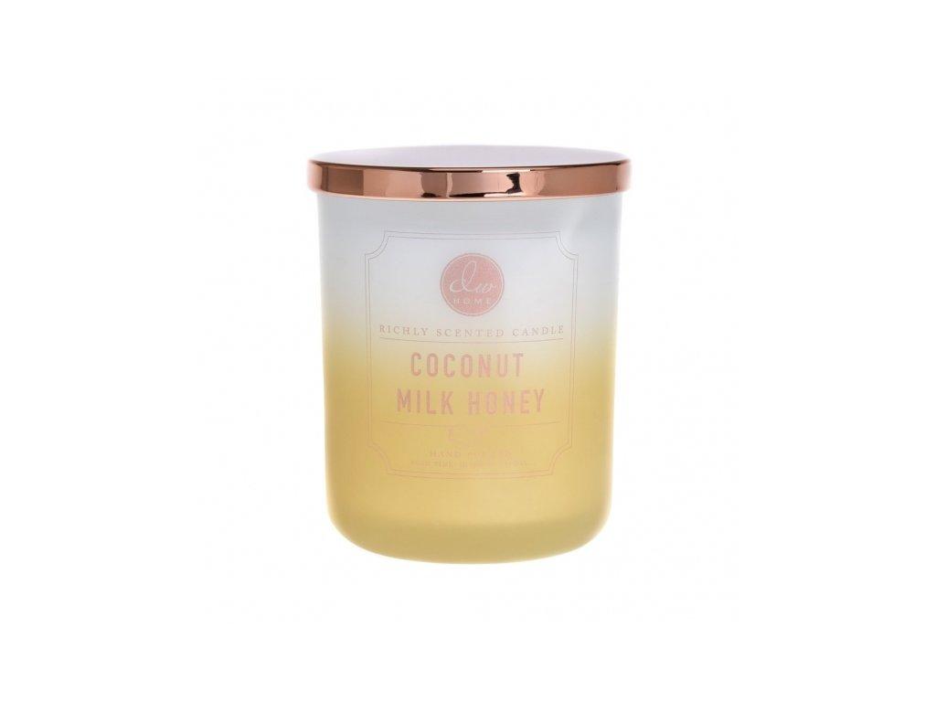DW Home Vonná svíčka ve skle Kokos a Med - Coconut Milk Honey, 15oz