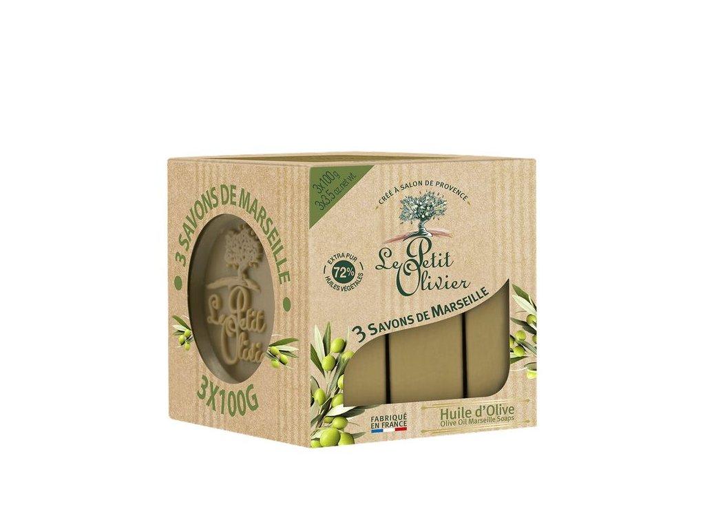 3x100g olive savon marseille 3 4