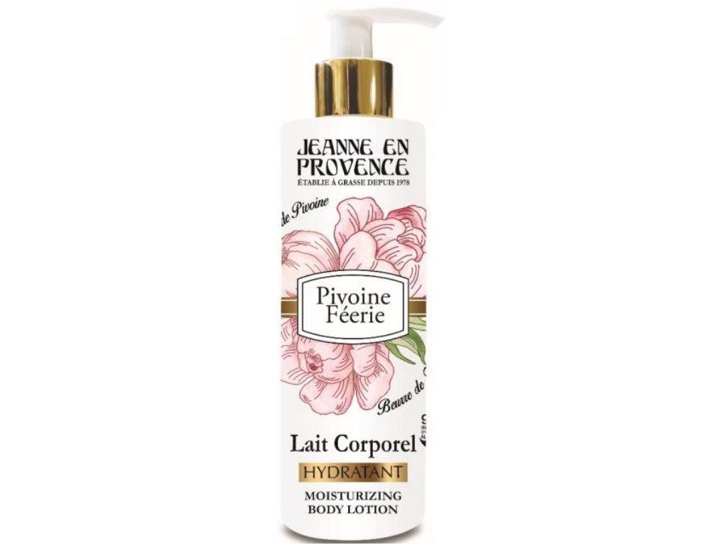Jeanne en Provence Tělové mléko - Pivoňková víla, 250ml