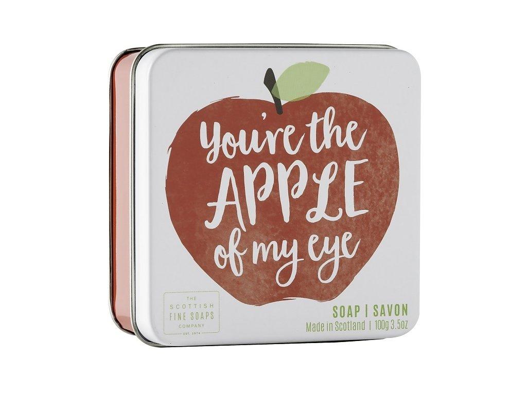 """Scottish Fine Soaps Mýdlo v plechu - """"You're the apple of my eye"""", 100g"""