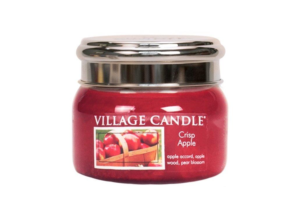 Village Candle Vonná svíčka ve skle - Svěží jablko - Crisp Apple, 11oz