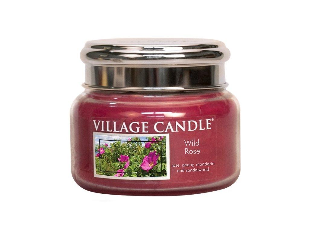 Village Candle Vonná svíčka ve skle, Divoká růže - Wild Rose, 11oz