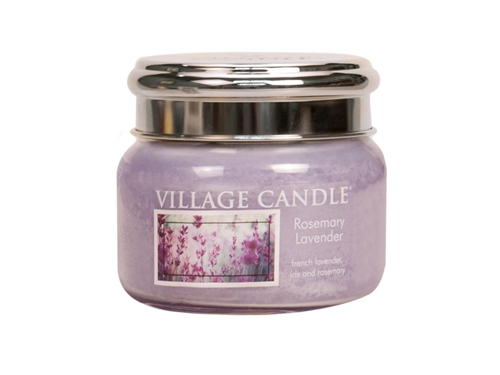 Village Candle Vonná svíčka ve skle, Rozmarýn Levandule - Rosemary Lavender, 11oz