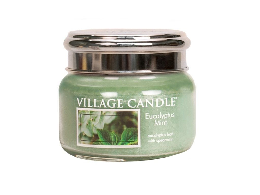 Village Candle Vonná svíčka ve skle, Eukalyptus a máta - Eucalyptus mint, 11oz