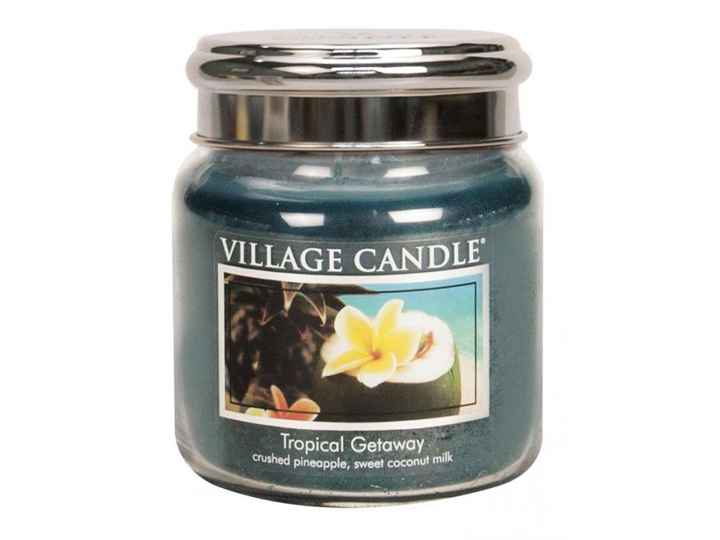 Village Candle Vonná svíčka ve skle, Víkend v tropech - Tropical Getaway, 16oz