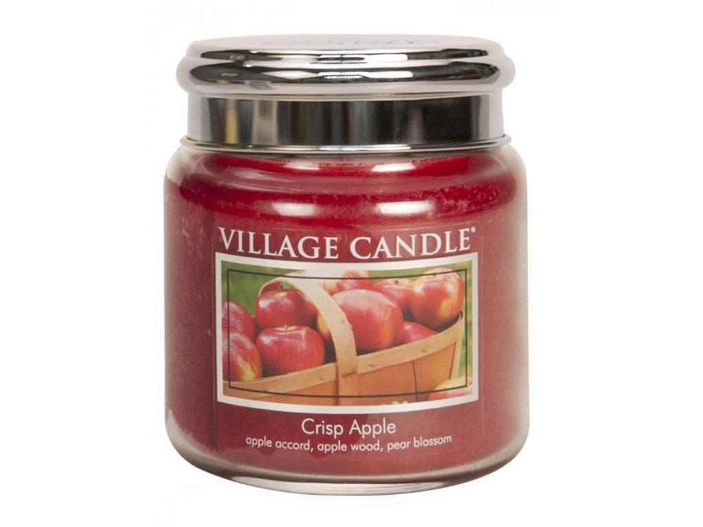 Village Candle Vonná svíčka ve skle, Svěží jablko - Crisp Apple, 16oz