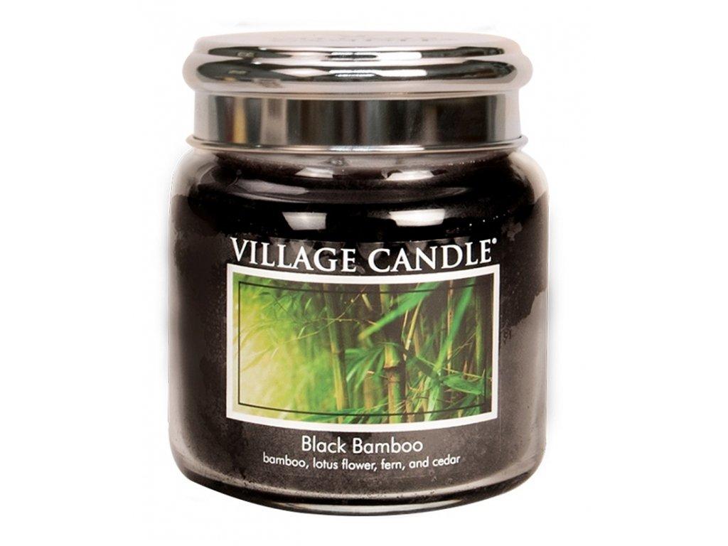 Village Candle Vonná svíčka ve skle - Bambus - Black Bamboo, 16oz