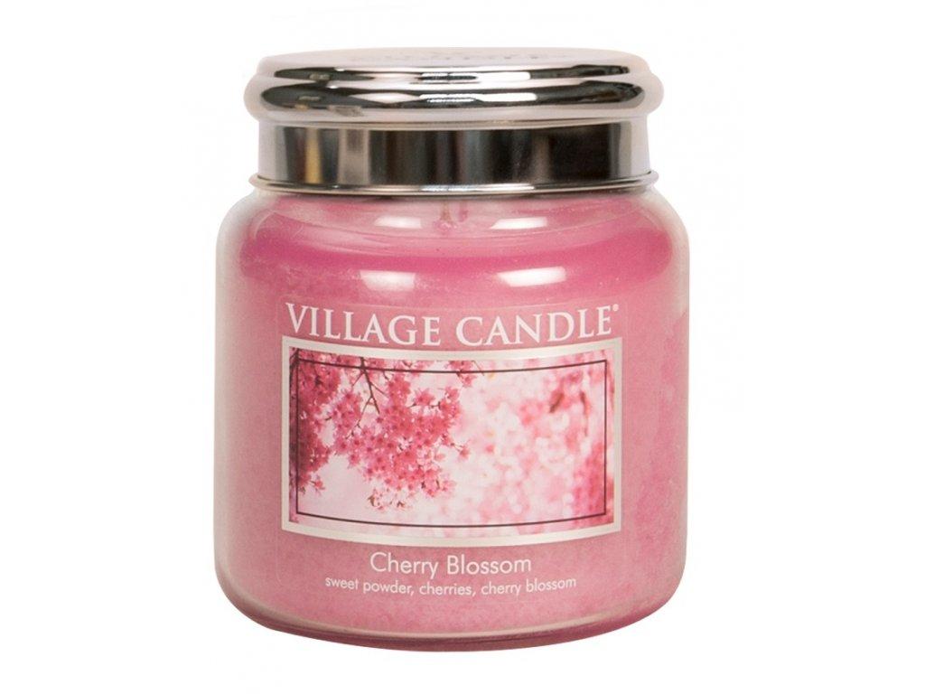 Village Candle Vonná svíčka ve skle, Třešňový květ - Cherry Blossom, 16oz