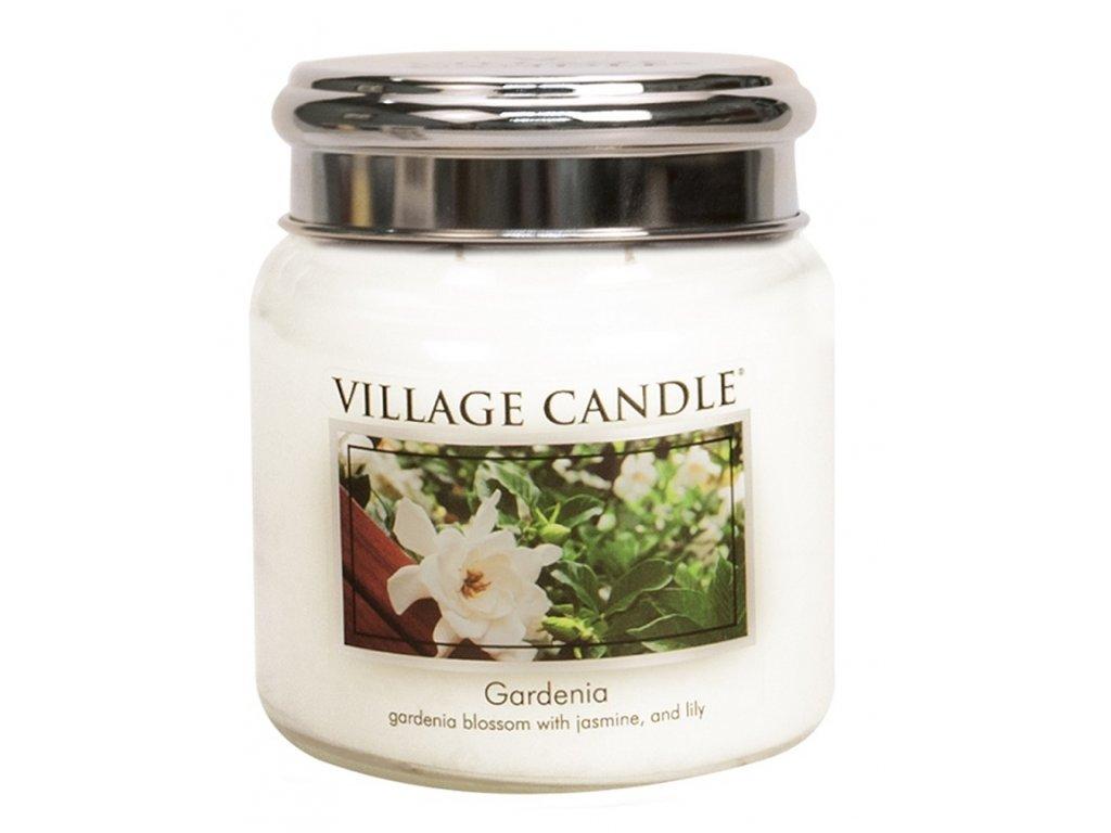 Village Candle Vonná svíčka ve skle - Gardénie - Gardenia, 16oz