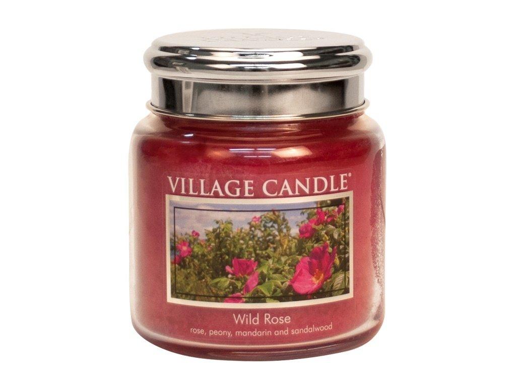 Village Candle Vonná svíčka ve skle, Divoká růže - Wild Rose, 16oz