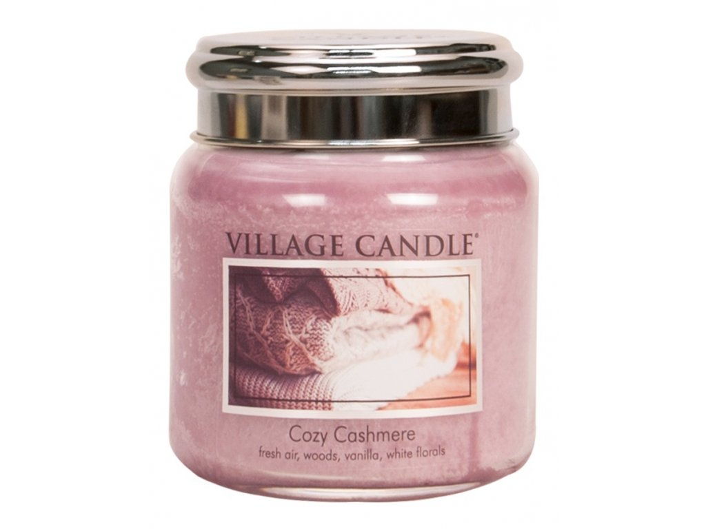 Village Candle Vonná svíčka ve skle, Kašmírové pohlazení - Cozy Cashmere, 16oz