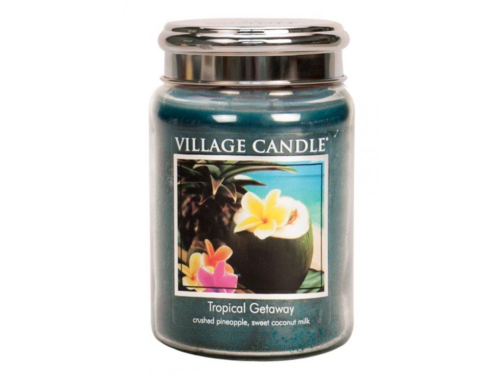 Village Candle Vonná svíčka ve skle - Víkend v tropech - Tropical Getaway, 26oz