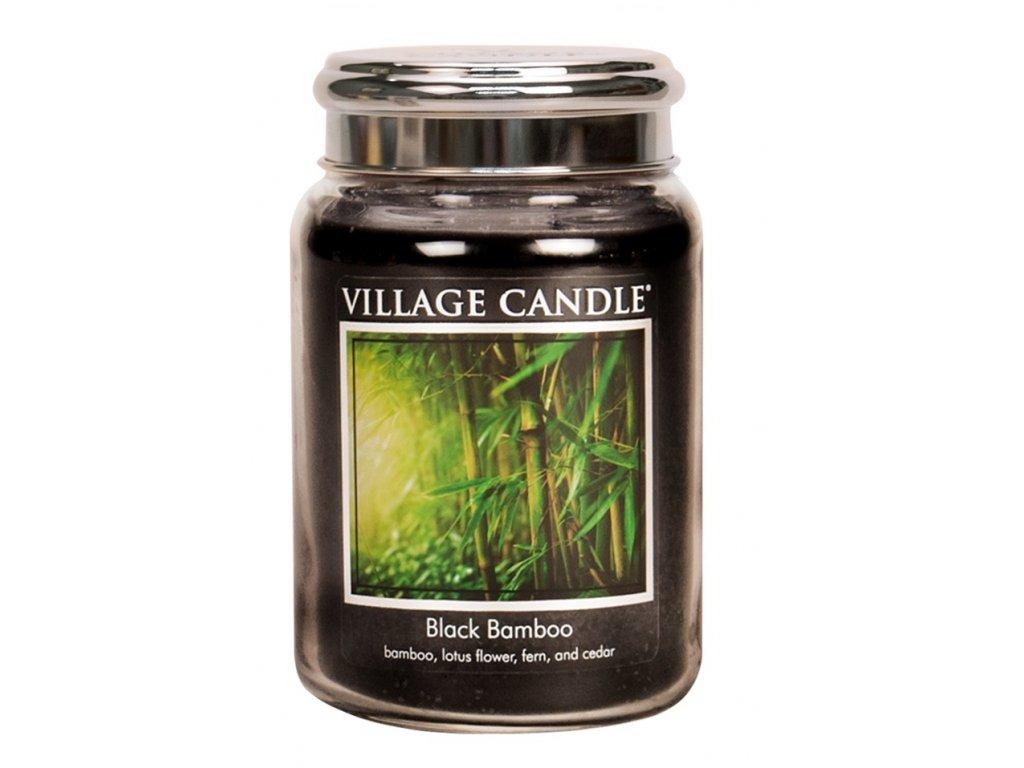 Village Candle Vonná svíčka ve skle, Bambus - Black Bamboo, 26oz