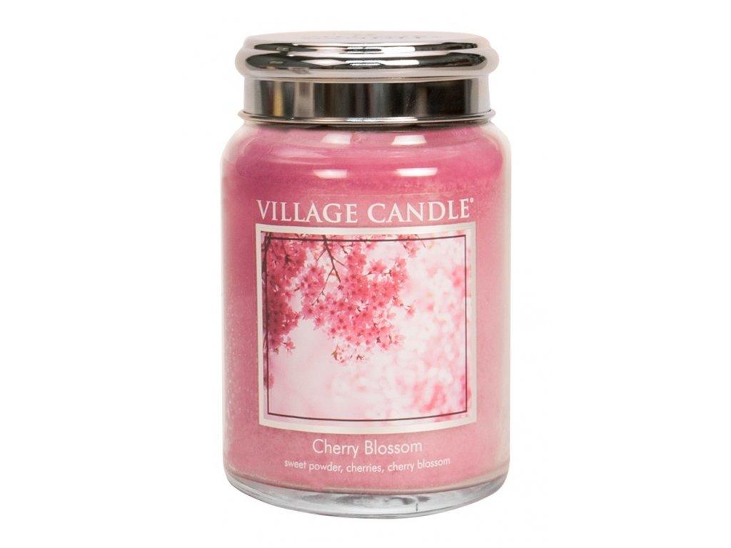 Village Candle Vonná svíčka ve skle, Třešňový květ - Cherry Blossom, 26oz