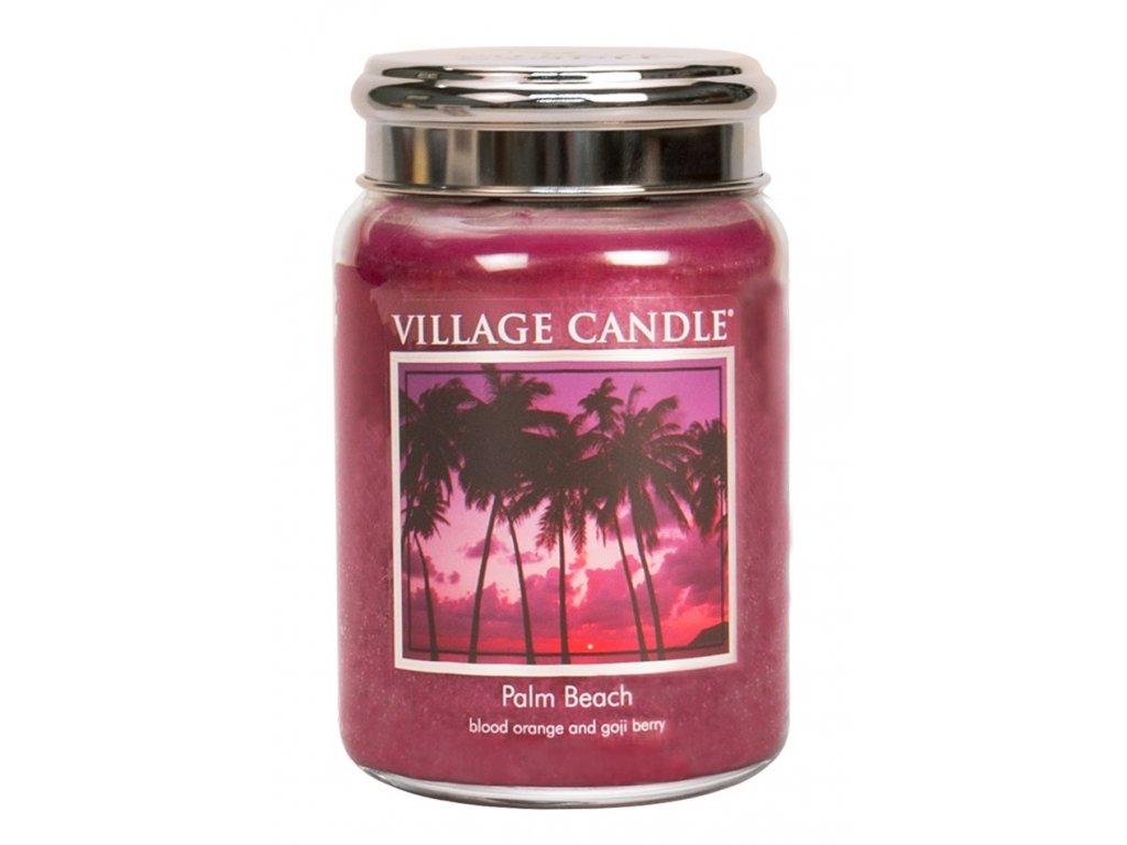 Village Candle Vonná svíčka ve skle, Palmová pláž - Palm Beach, 26oz