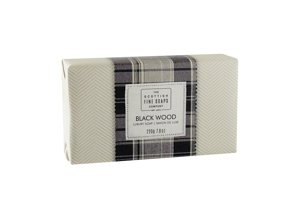 Scottish Fine Soaps Jemné Mýdlo - Černé dřevo, 220g