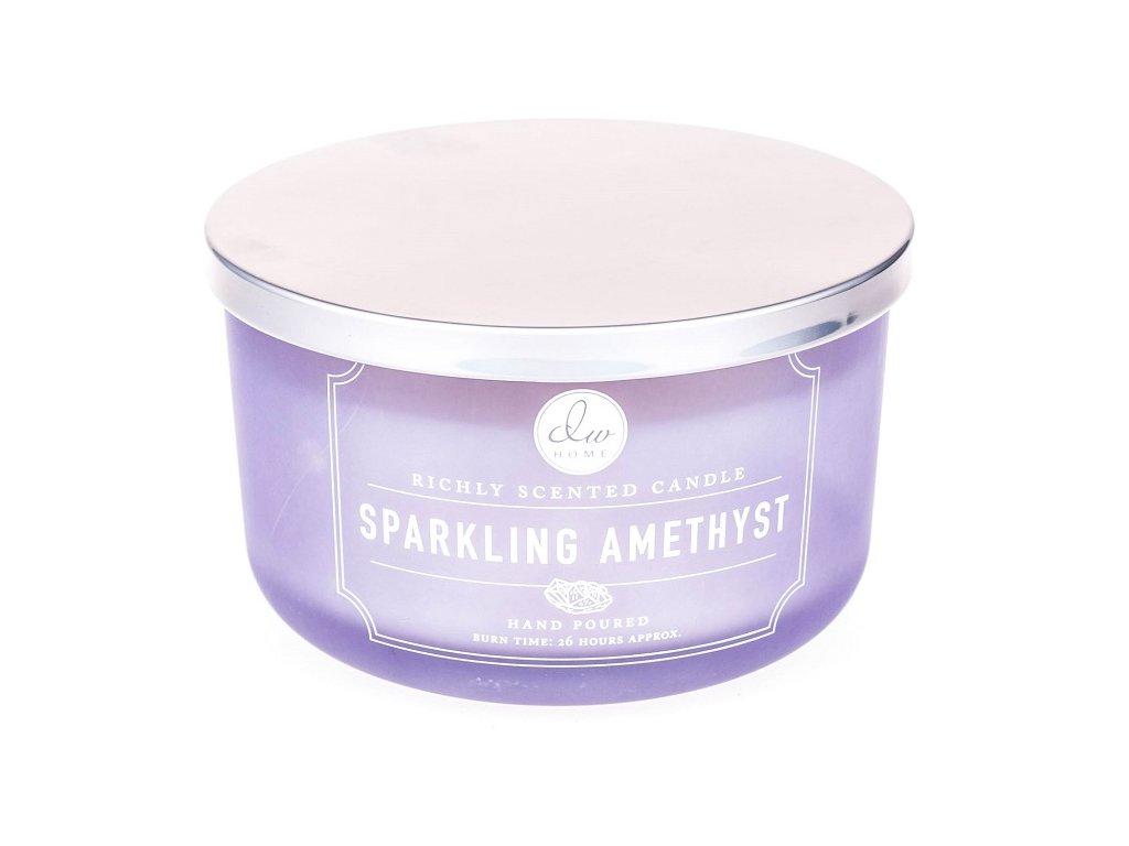DW Home Vonná svíčka ve skle Zářící Ametyst - Sparkling Amethyst, 13,4oz