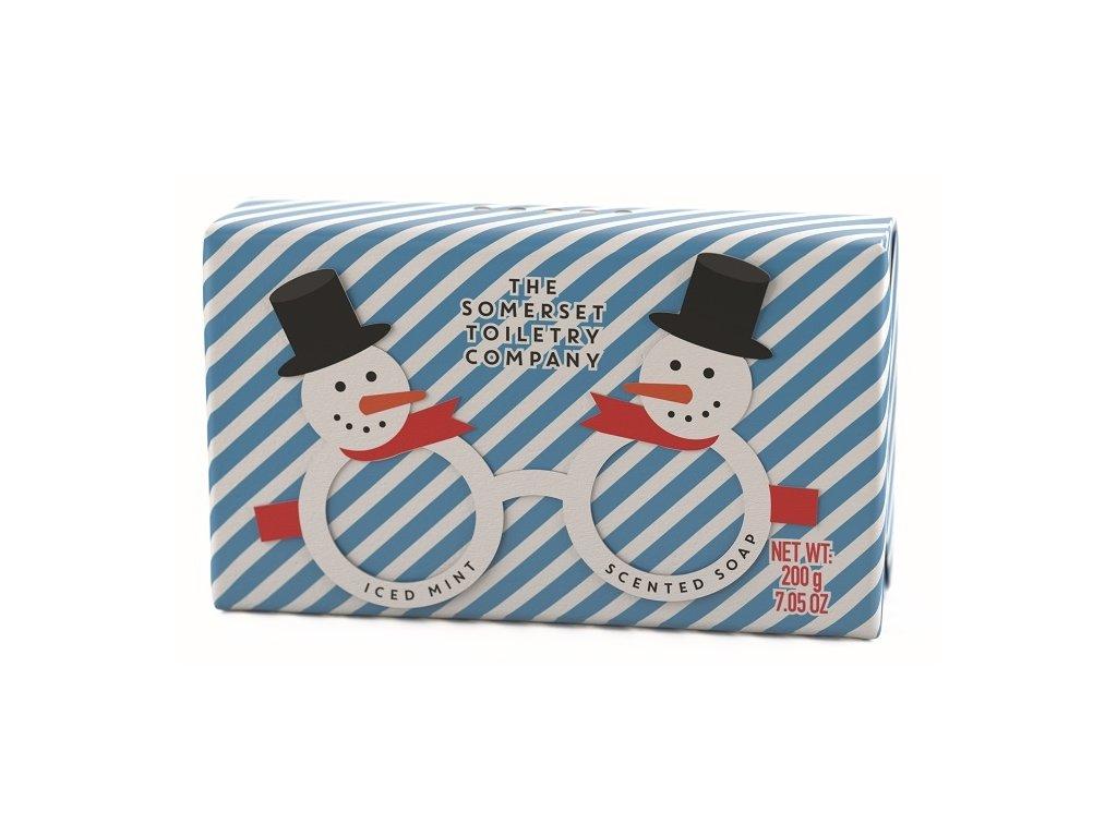 Somerset Toiletry Luxusní Vánoční mýdlo - Sváteční brýle - Sněhulák, 200g