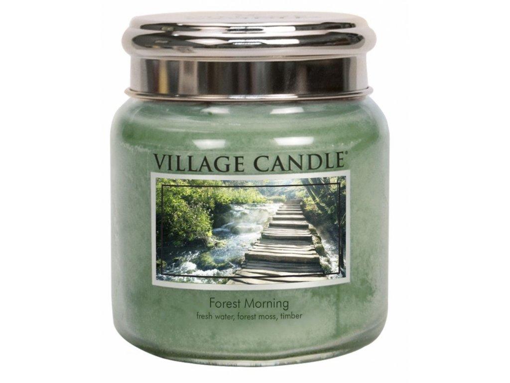 Village Candle Vonná svíčka ve skle, Lesní Probuzení - Forest Morning, 16oz